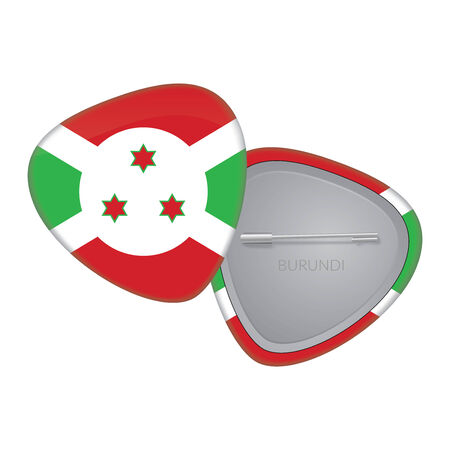 Vector Flag Badge Series - Burundi Vector