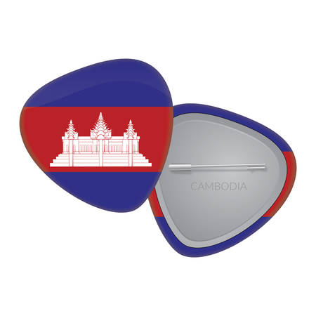 Vector Flag Badge Series - Cambodia Vector