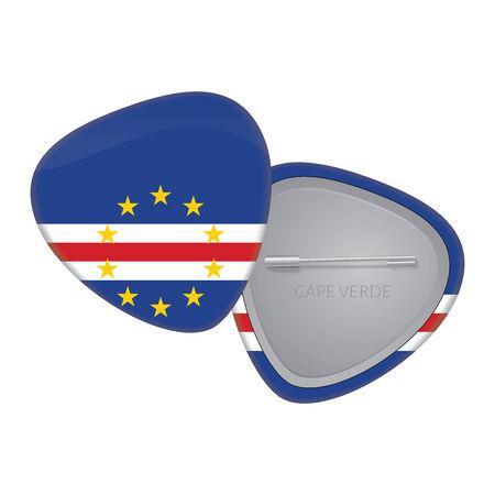cape verde flag: Vector Flag Badge Series - Cape Verde Illustration