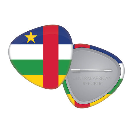 central african republic: Vector Flag Badge Series - Central African Republic