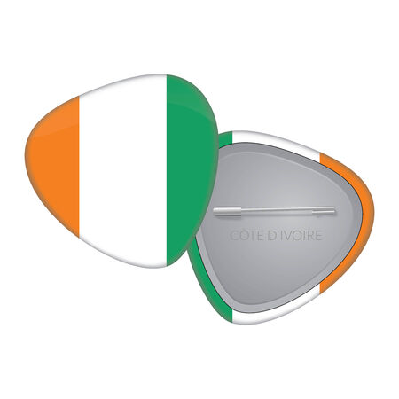 Vector Flag Badge Series - Ireland Vector