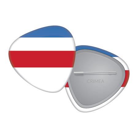 crimea: Vector Flag Badge Series - Crimea