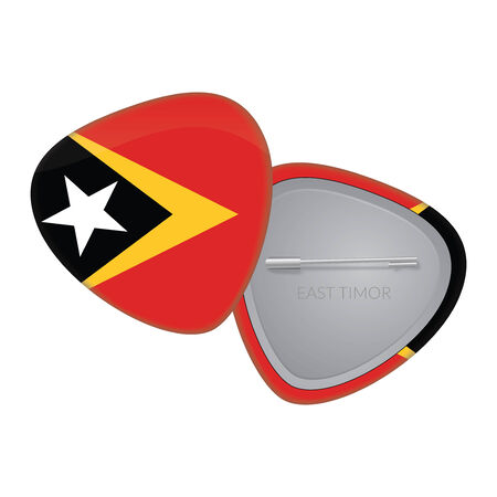 Vector Flag Badge Series - East Timor Vector