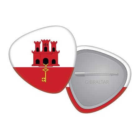 gibraltar: Vector Flag Badge Series - Gibraltar Illustration