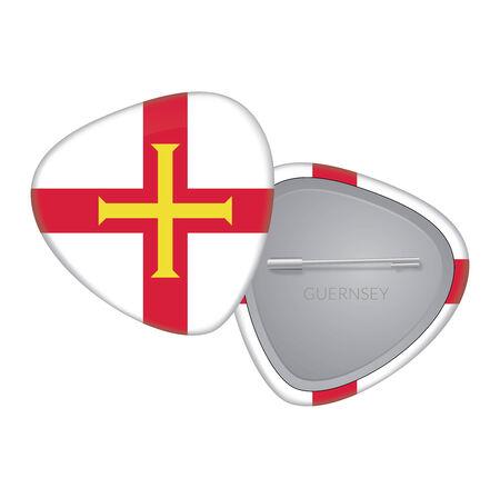 guernsey: Vector Flag Badge Series - Guernsey