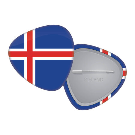 Vector Flag Badge Series - Iceland Vector
