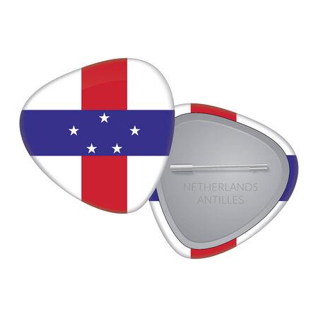 Vector Flag Badge Series - Netherlands Antilles Illustration