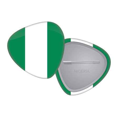 Vector Flag Badge Series - Nigeria Vector
