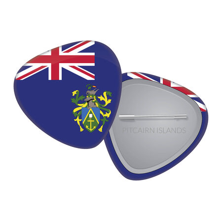 pitcairn: Vector Flag Badge Series - Pitcairn Islands