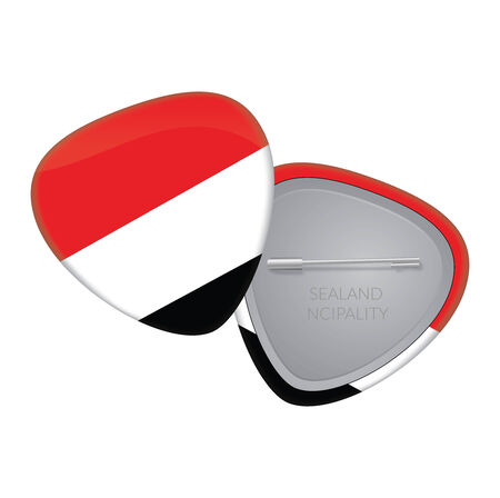 sealand: Vector Flag Badge Series - Sealand ncipality
