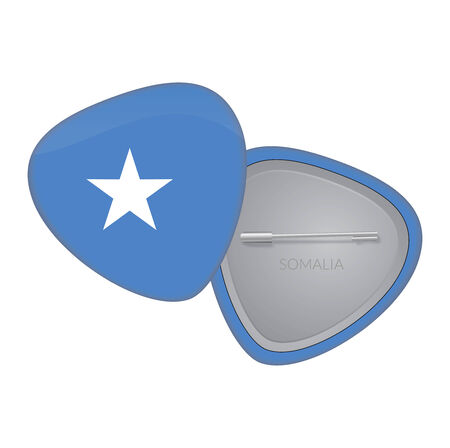 Vector Flag Badge Series - Somalia Vector