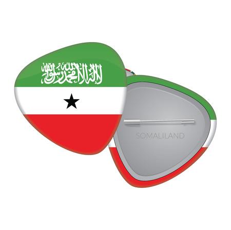 somaliland: Vector Flag Badge Series - Somaliland
