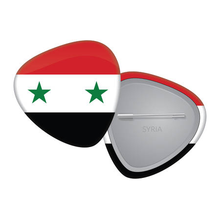 Vector Flag Badge Series -  Syria Vector