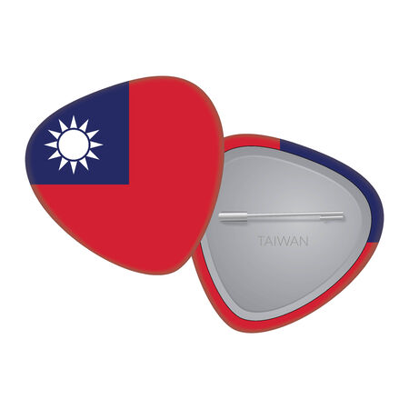 Vector Flag Badge Series - Taiwan Vector