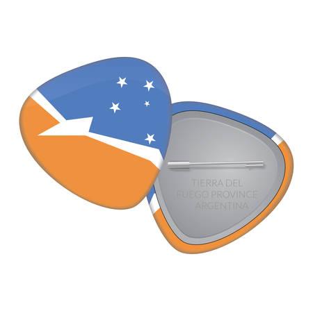 tierra del fuego: Vector Flag Badge Series - Tierra Del Fuego Province Argentina