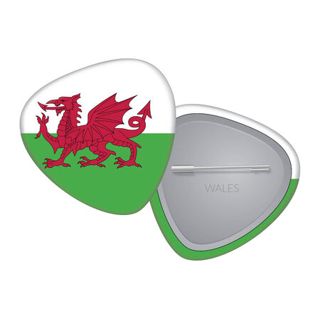 Vector Flag Badge Series - Wales Vector