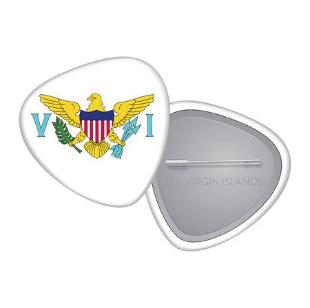 virgin islands: Vector Flag Badge Series - U.S. Virgin Islands