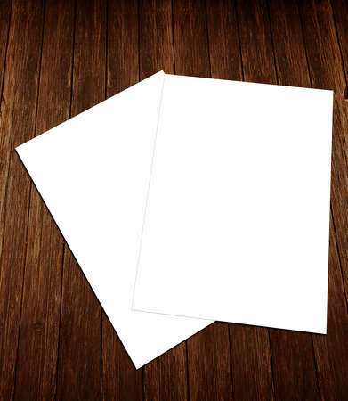 Blank white paper flyer, identity design, corporate templates, company style photo
