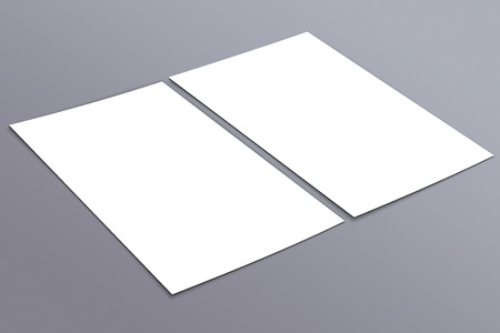 postcard: Blank white paper flyer, identity design, corporate templates, company style