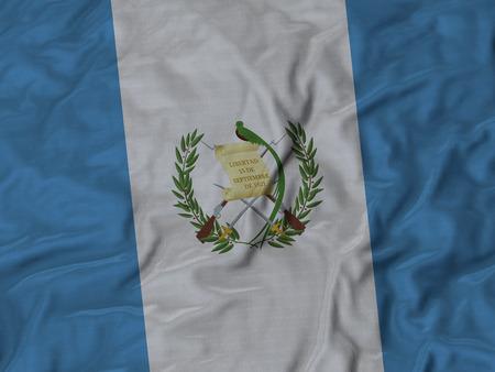 bandera de guatemala: Primer plano de la bandera de Guatemala con volantes, volantes fondo de la bandera. Foto de archivo