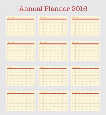 poster calendar for 2016 annual planner for year 2016 simple