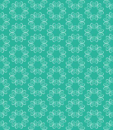 Green geometry pattern flower, Abstract geometric background, print, retro texture, fashion design.