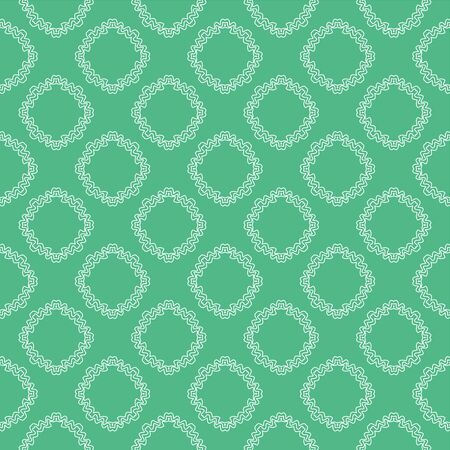 Antique green geometry pattern flower, Abstract geometric background, print, retro texture, fashion design. Illustration