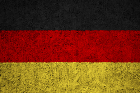 Germany flag on the grunge concrete wall