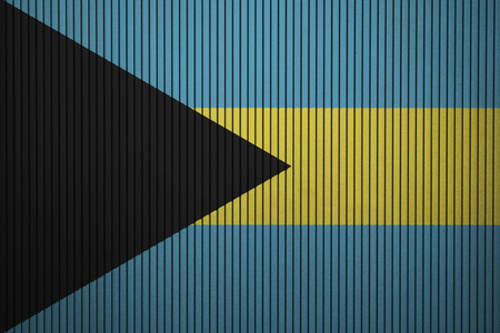 Painted national flag of Bahamas on a concrete wall Stock Photo