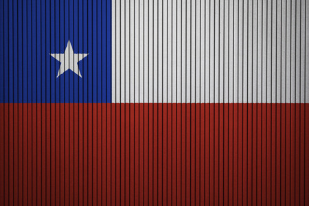 Chile flag on the grunge concrete wall