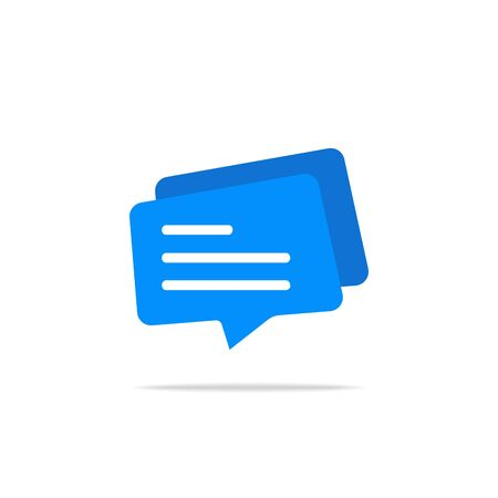 Typing in a chat bubble icon, comment sign symbol