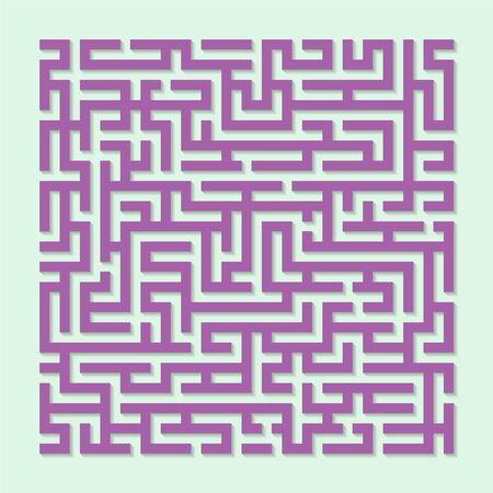 Labyrinth maze game, Labyrinth shape design element. Vektorové ilustrace