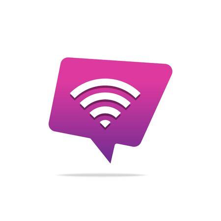 Wifi Signal Symbol Icon, Wireless Network Symbol wifi icon Ilustracja