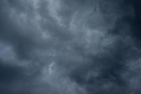 Dark black clouds in the sky, Stormy rain clouds background. Zdjęcie Seryjne