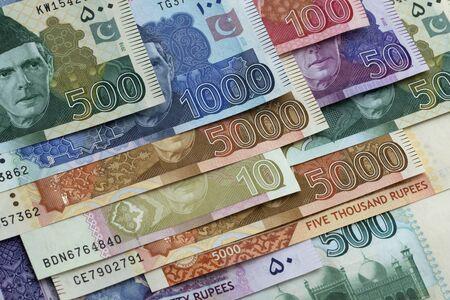 Pakistani Rupees, Pakistani currency notes Stock Photo