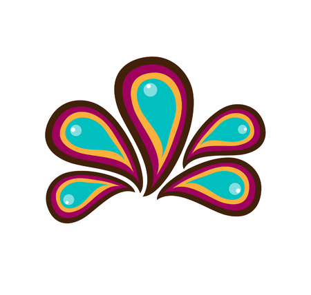 Colorful paisley Vector
