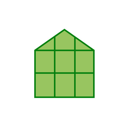 Greenhouse Icon Clip Art  Illustration