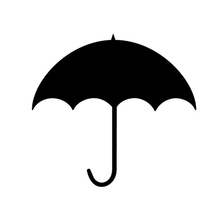 Umbrella black silhouette Illustration