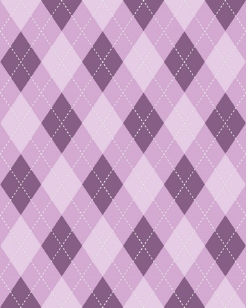 Purple seamless argyle background pattern texture Stock Vector - 32232647