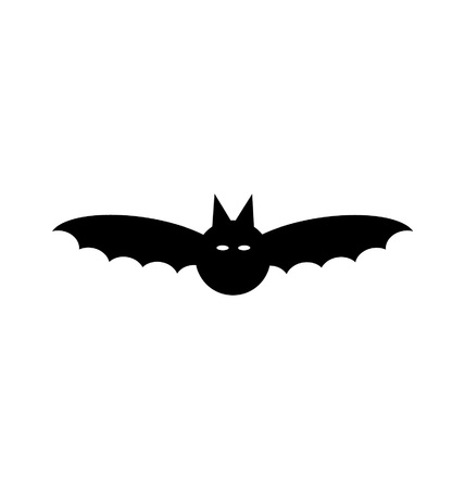 Black Halloween Bat Silhouette
