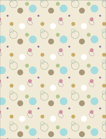 Abstract background with circles and ovals