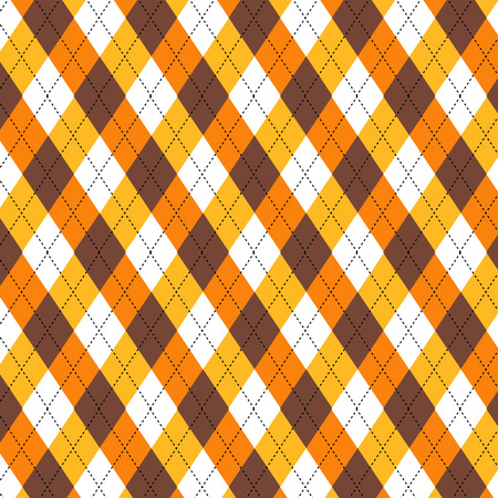 Seamless repeating argyle background in autumn or candy corn colors Vector