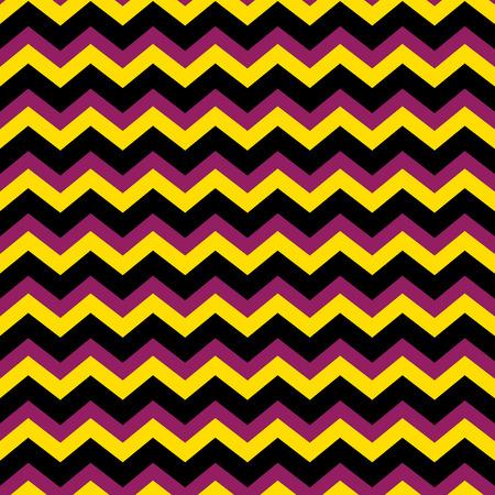 Chevron zig zag pattern in purple, black and yellow Stock Vector - 32381223