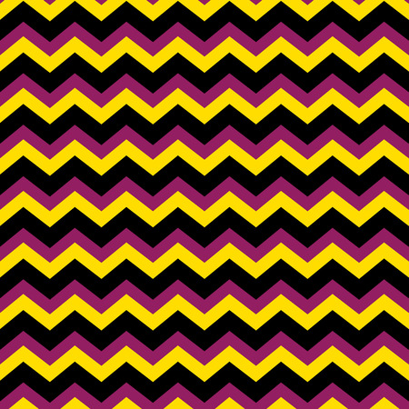 Chevron zig zag pattern in purple, black and yellow Illustration