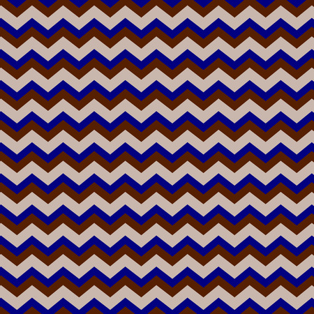 Chevron seamless background pattern in bright blue and browns