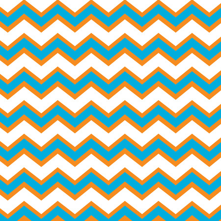 Repeating chevron pattern in orange and turquoise