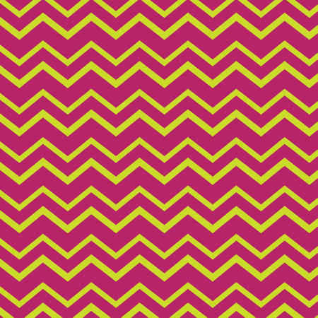 Bright pink and yellow chevron seamless repeating pattern