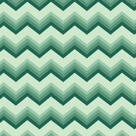 Seamless repeating chevron zig zag background pattern in greens Illustration