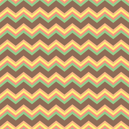 Seamless repeating chevron zig zag background pattern in pastels and brown Illustration
