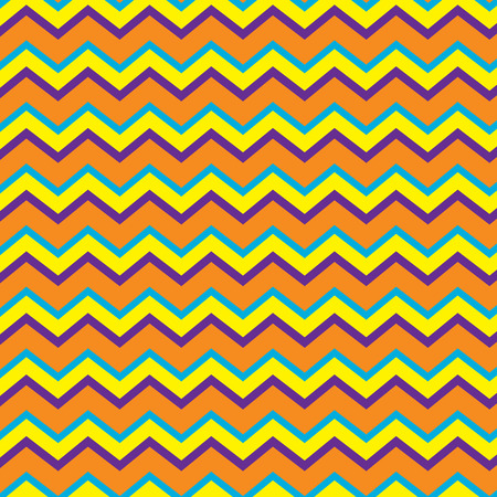 Seamless repeating chevron zig zag background pattern in orange, purple and yellow Illustration